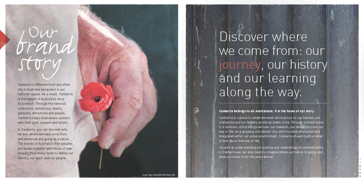 Thinktag Creative Services » ACT Tourism Brand Book